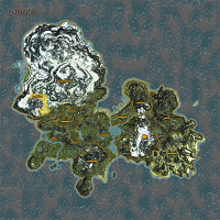 The Crystal Forest highlighted on Enderal map.