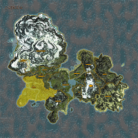 The Sun Coast highlighted on Enderal map.