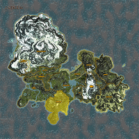 Western Cliff highlighted on Enderal map.